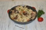 Готовое блюдо: говяжьи ребра с рисом