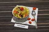 Готовое блюдо: кускус с запеченными овощами