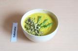 Готовое блюдо: крем-суп из тыквы и спаржи