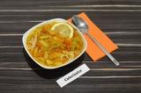 Готовое блюдо: овощной лагман