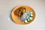 Готовое блюдо: запеченный батат с тыквой