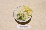 Готовое блюдо: салат из брокколи с луком