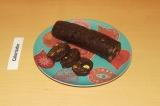 Готовое блюдо: шоколадная колбаска