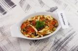 Готовое блюдо: кальмары с овощами