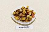 Фасолевый салат с лисичками