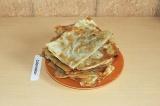 Готовое блюдо: чебуреки из лаваша