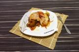 Готовое блюдо: картофельная запеканка с баклажанами