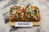 Готовое блюдо: бутерброд с адыгейским сыром
