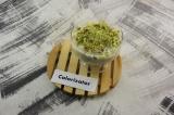 Готовое блюдо: десерт из ананасов с йогуртом