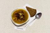 Готовое блюдо: суп из тыквы с фасолью