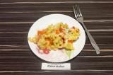 Готовое блюдо: макароны запеченные с овощами и сыром