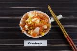 Готовое блюдо: острый салат с пекинской капустой