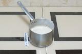 Шаг 6. Добавить измельченную в муку зеленую гречку и проварить до загустения.