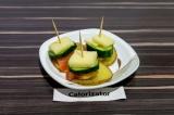 Готовое блюдо: закуска на картофельных ломтиках