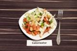 Готовое блюдо: салат из пекинской капусты с белой фасолью