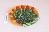 Готовое блюдо: паста в шпинатном соусе