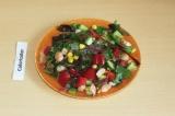 Готовое блюдо: морской салат