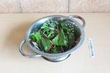 Шаг 2. Промыть тщательно микс салата.