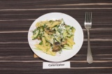 Готовое блюдо: макаронный салат с творожной заправкой