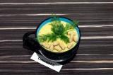 Готовое блюдо: гороховый суп пюре с кабачком