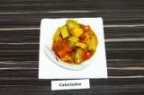 Готовое блюдо: адыгейский сыр с овощами в томате