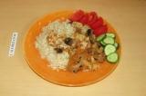 Готовое блюдо: рагу с тофу