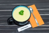 Готовое блюдо: суп пюре из картофеля и кабачков