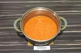 Шаг 5. К картофелю добавить бланшированные помидоры и перец, все пюрировать