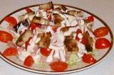 Готовое блюдо: салат Цезарь (лайт)