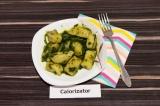 Готовое блюдо: картофельные ньокки со шпинатом