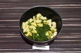 Шаг 8. Смешать готовые ньокки со шпинатом.