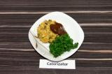 Готовое блюдо: котлеты из нута с баклажаном