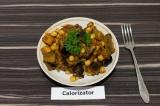 Готовое блюдо: баклажан тушеный с нутом