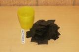 Шаг 2. Смолоть блендером воду листьями нори.