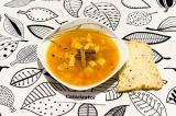 Готовое блюдо: овощной суп с соевой спаржей